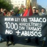 Anuncian radicalización en sus movilizaciones: Agricultores y productores de tabaco protestan en La Moneda y el Congreso